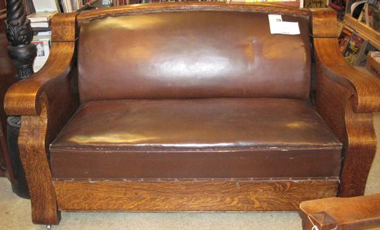 1900s hideabed sofa empire mission style