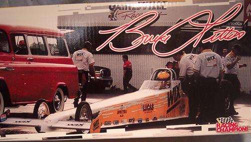 NASCAR Bruce Litton s Dragster and car bank are part of the